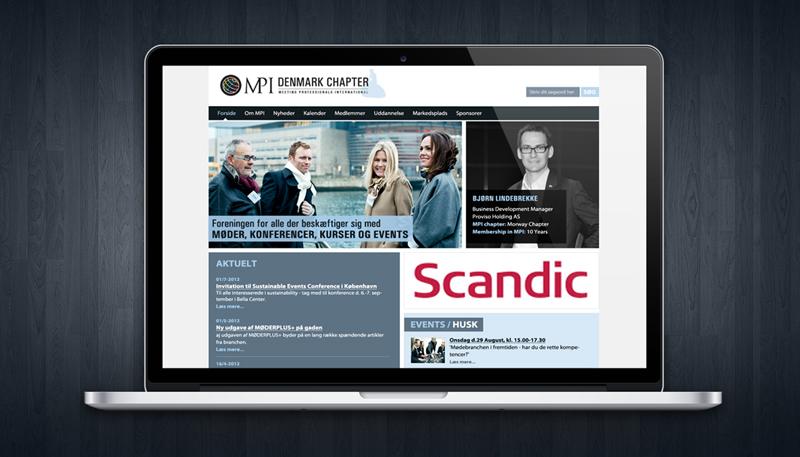 Hjemmeside design til MPI Denmark