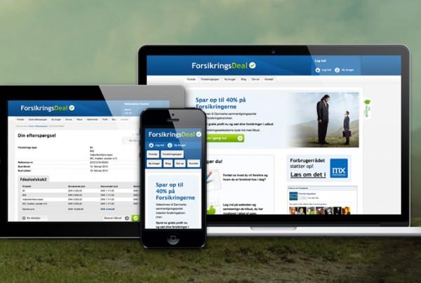 ForsikringsDeal wordpress design