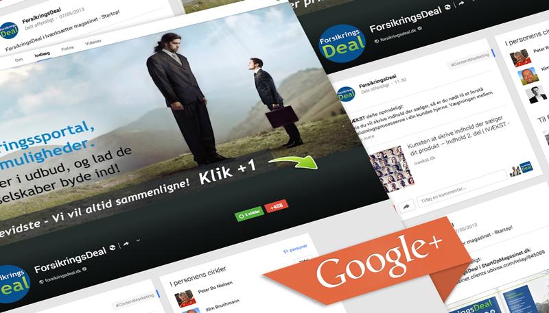 ForsikringsDeal google+ design